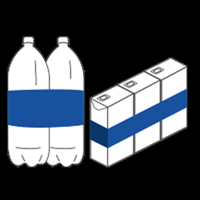 Produits en position verticale